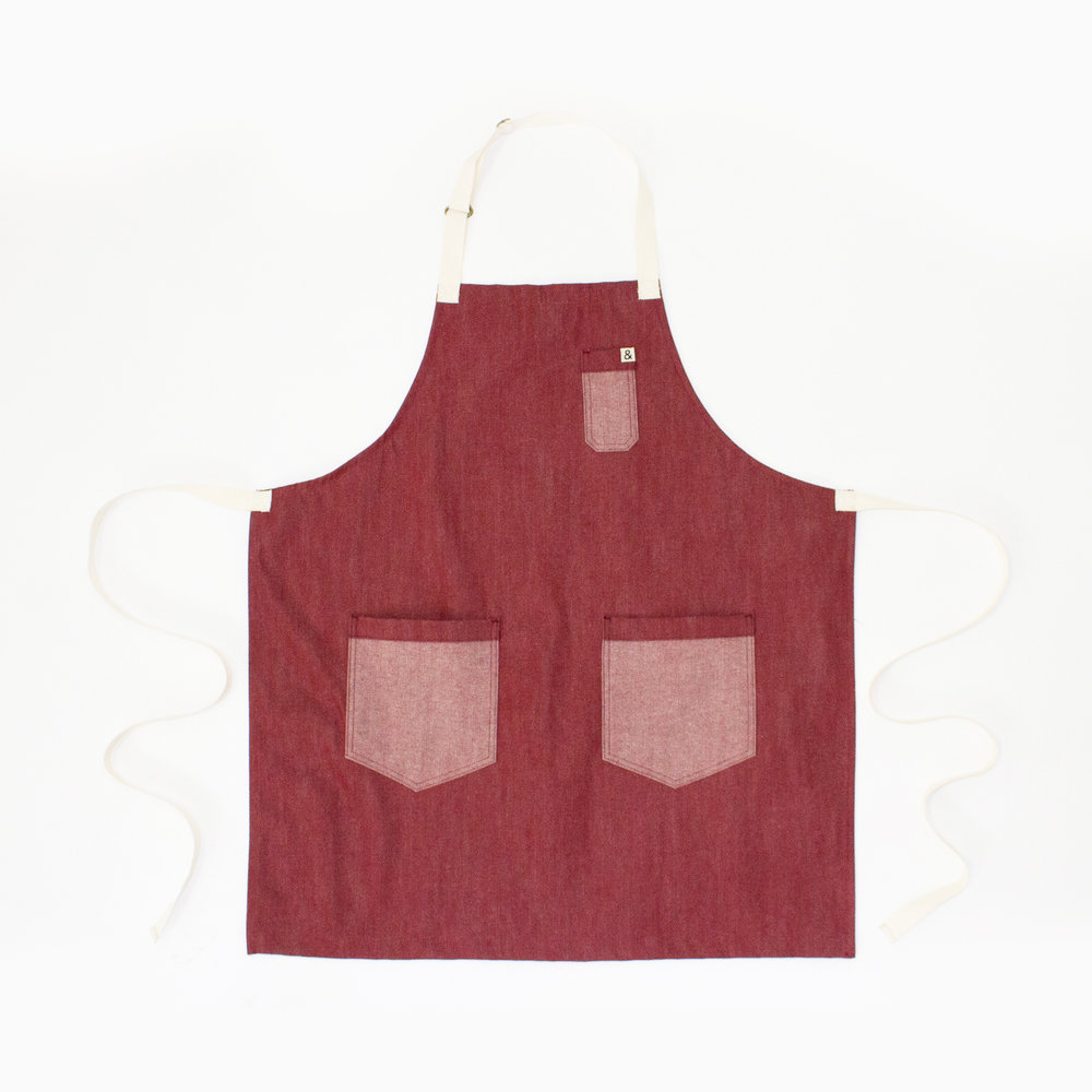 HEDLEY & BENNETT KID'S DENIM APRON  $48.00
