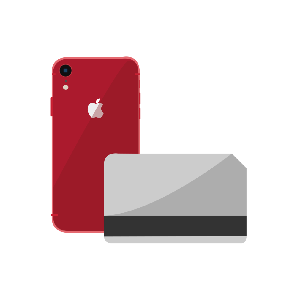 phone and card