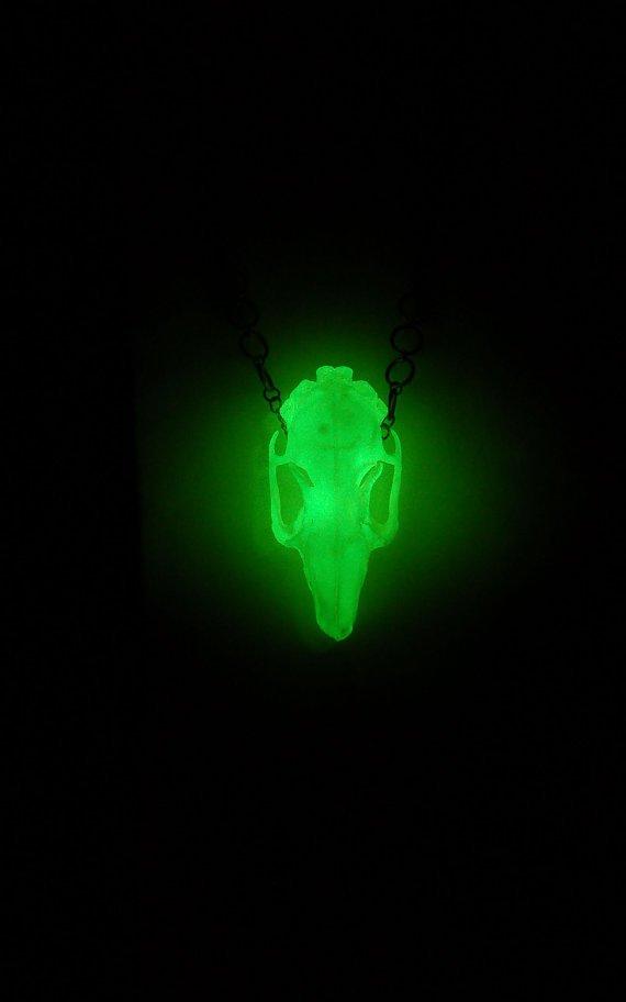 Glow in th Dark Rabbit Skull Necklace.jpg