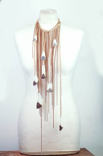 Arapamia Fish Scales Copper Waterfall Necklace.jpg