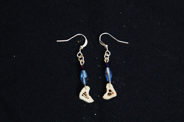 Human Ulna Slice Earrings Virginia The Wolf