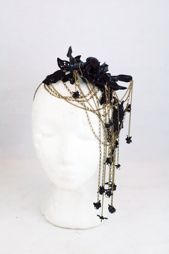 Bones Decoupage Lace Bronze Headchain.jpg