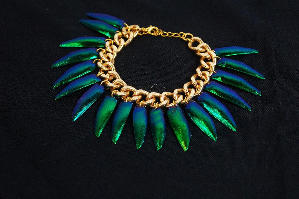 Jewel Beetle Wing Bracelet