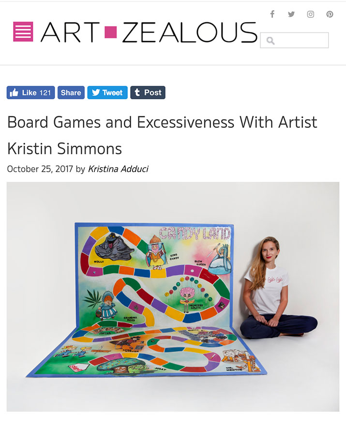- Board Games and Excessiveness With Artist Kristin Simmons