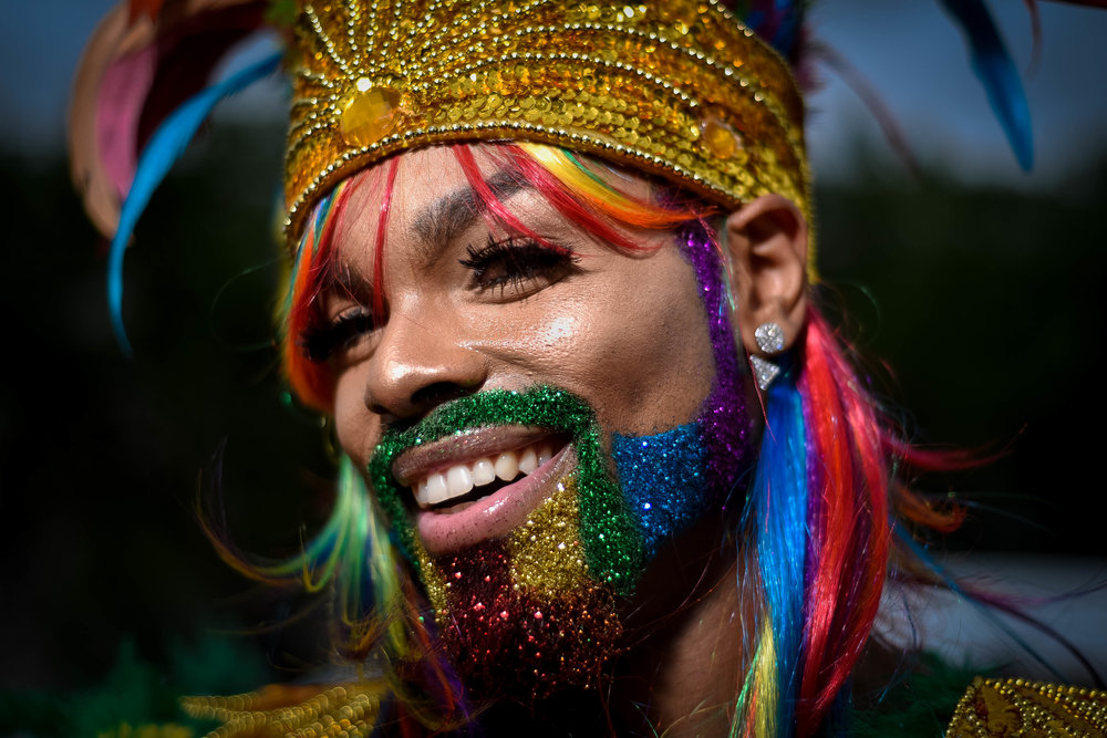 "When asked what Capital Pride in Washington D.C. means to Baron ""The Glam God"" Baron said, ""Just celebrating life, expressing love and just being yourself...we may be different but at the end of the day we are all human."""
