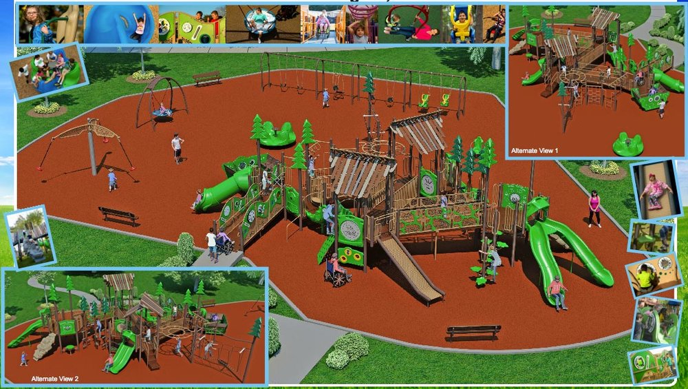 Proposed design for new playground at Rollingbrook Park, Bloomington, IL