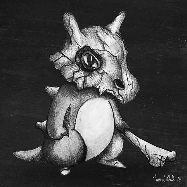 Little Cubone  #pokemon #pokemongo #pokemonart #anime #cartoon #cubone #art #artist #sketch #sketching #draw #drawing #illustration #illustrations #smart_art_featuring