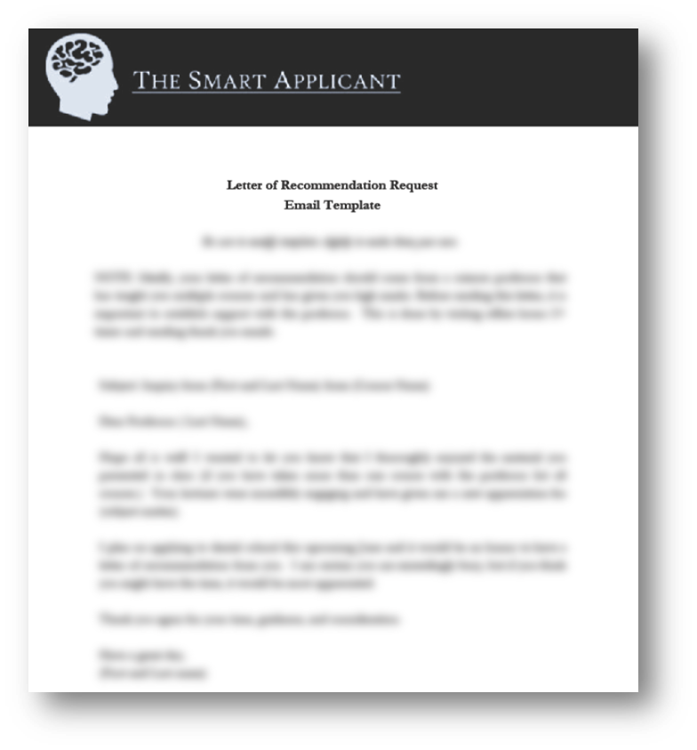 letter of recommendation request template the smart applicant