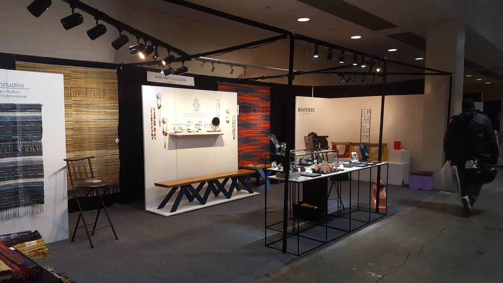 Our beautiful Maine Crafts Association booth.