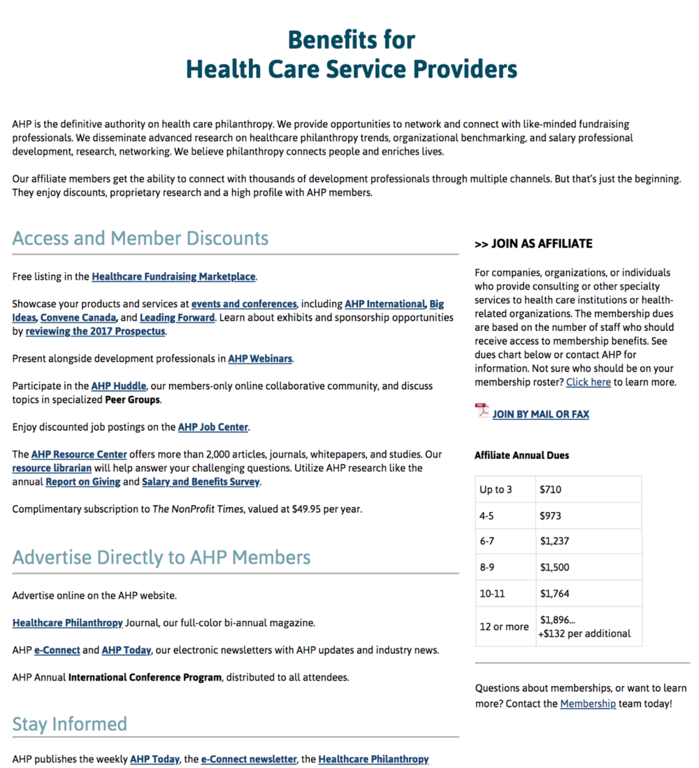 Updated page for Health Care Providers