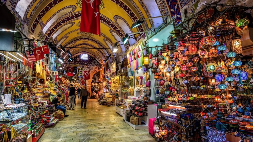 Grand Bazaar, Istanbul - At the moment of the final, world-wide swap, Ryan's mother finds herself surrounded by a horde of Turks who are just as terrified as her.