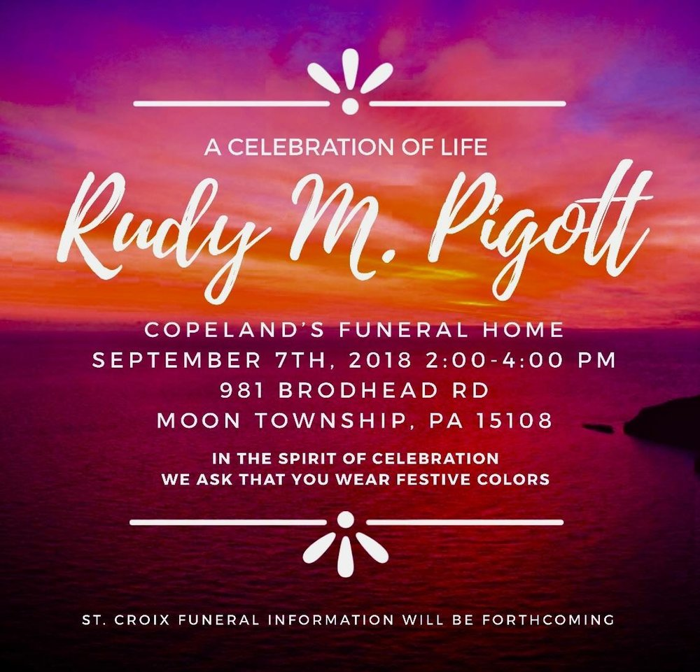 Rudy Pigott's Memorial - September 7th 2018