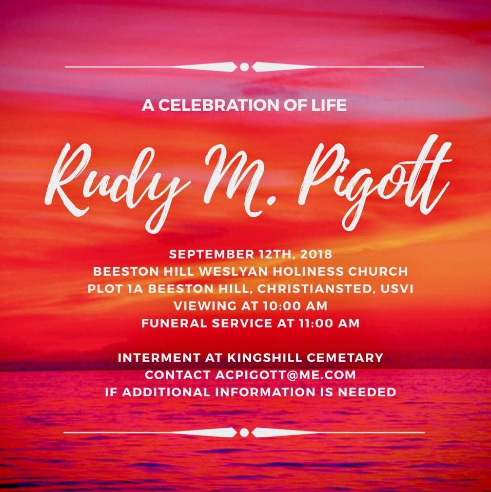 Rudy Pigott's Funeral - September 12th 2018