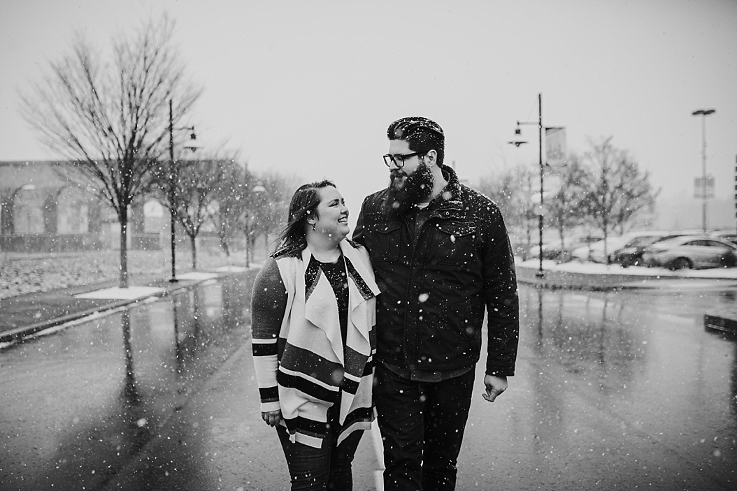 snowy bethlehem, pa engagement session