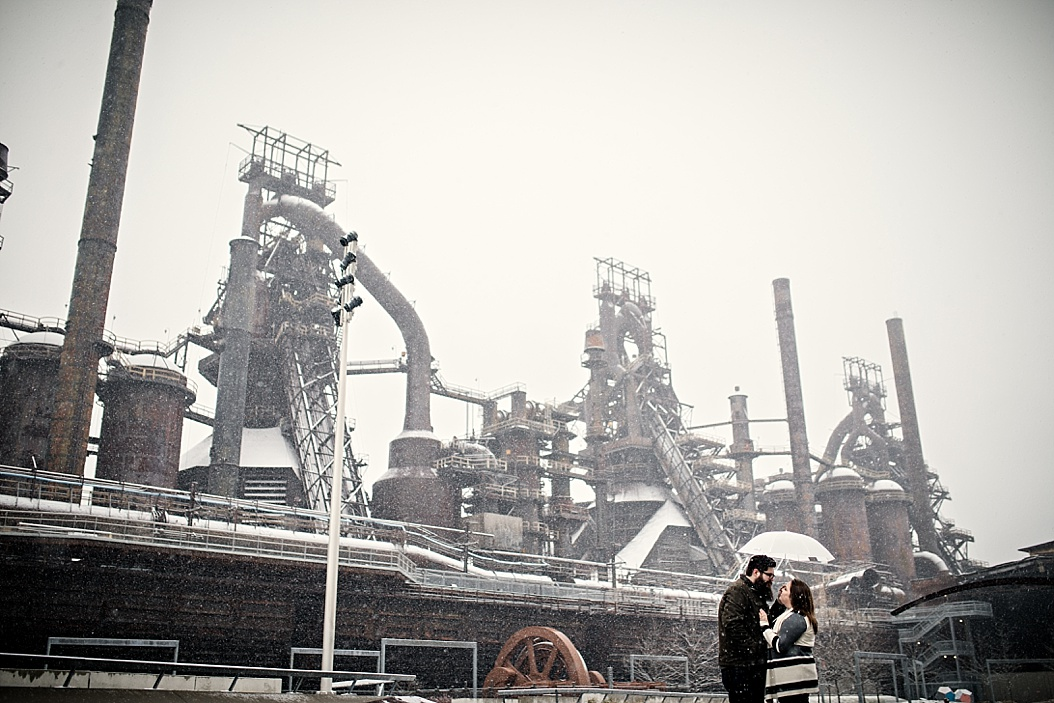 steelstacks in snow