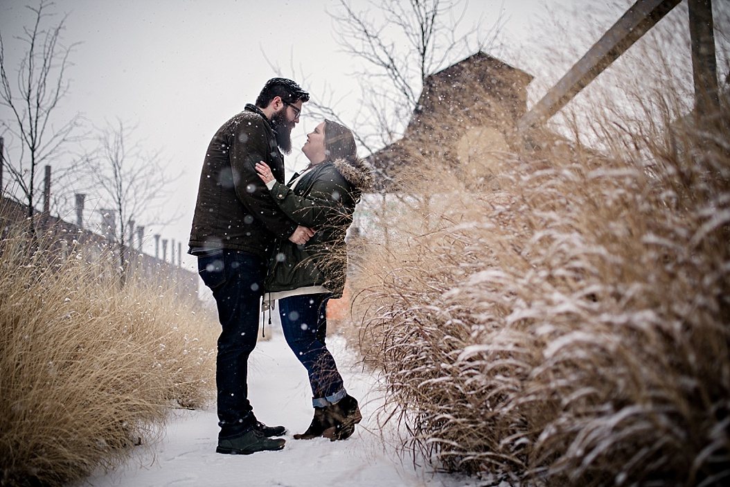 january engagement session