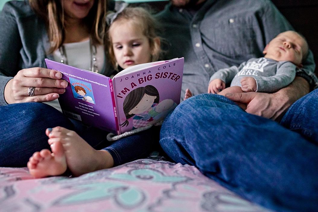 reading I'm a Big Sister