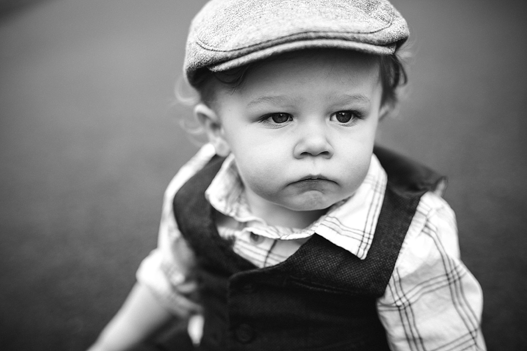 baby boy with newsboy hat