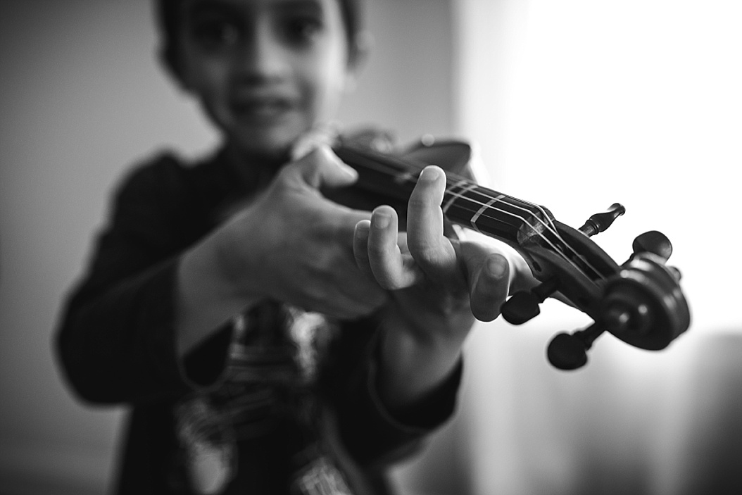 brother playing violin