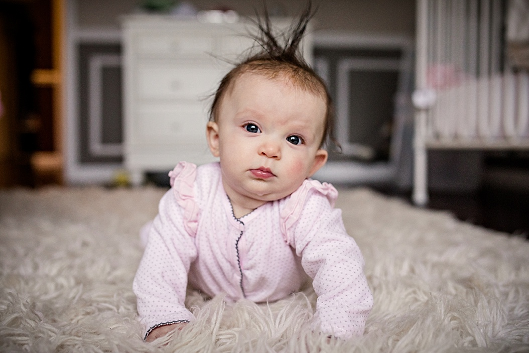 baby with silly hairdo