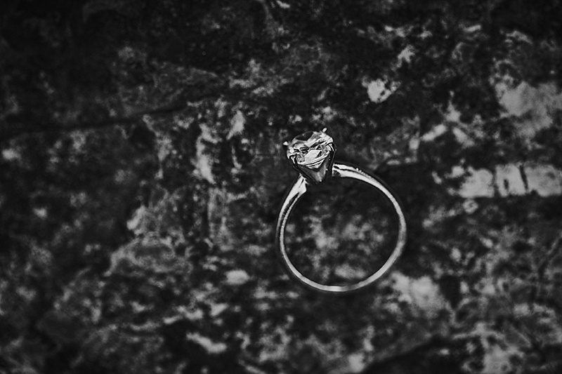 black and white ring shot
