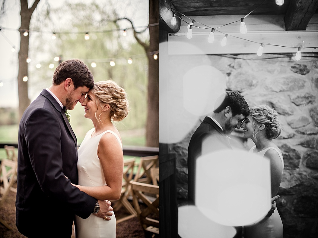 wedding pictures with twinkly lights