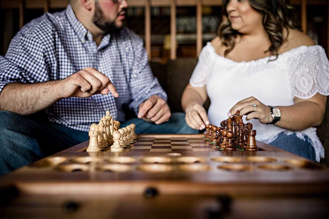 chess game during engagement session