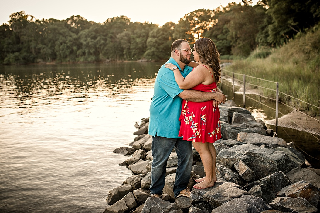 couples outfit coordination for summer engagement session
