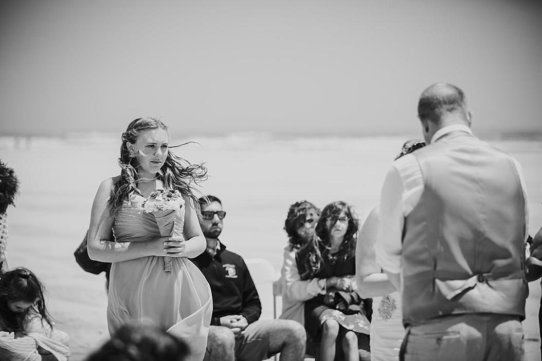 windy new jersey beach wedding