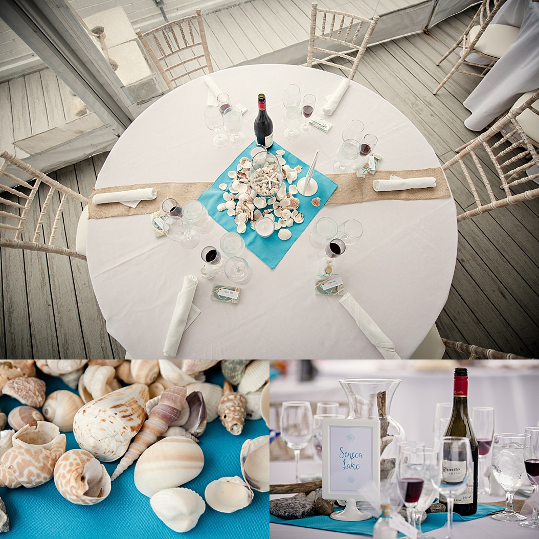 starfish and shell reception details