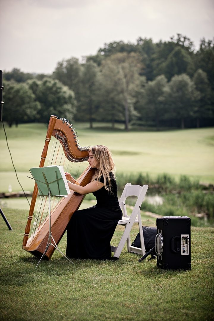 harpist at wedding ceremony