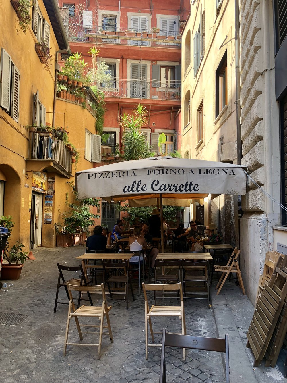 One of the many outdoor cafes that we frequented.