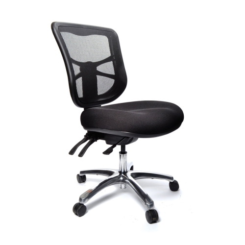 Mesh Back Chair - Mesh back chair with full ergonomic features.and comfortable.- Adjustable back                                         - Adjustable Seat                                         - Three Levers                                           - Aluminium Base                                         - Comfortable Foam Seat                                   - Backward/ Forward back feature