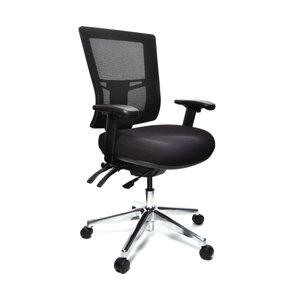 Mesh Back Chair With Arms - Mesh back chair with arms have full ergonomic features.and comfortable.- Adjustable back tilt                                       - Adjustable seat tilt                                       - Three levers                                           - Comfortable foam Seat                                   - Backward/ forward back feature                            -Height adjustable Swivel Chairs