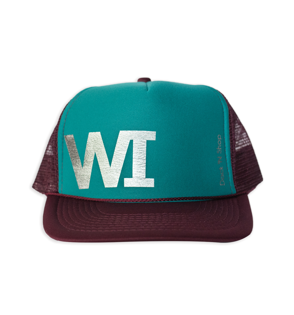 WI Maroon Turquoise Trucker DockNShop Hats WI MarTurq Bac.png 6fd928a33c77