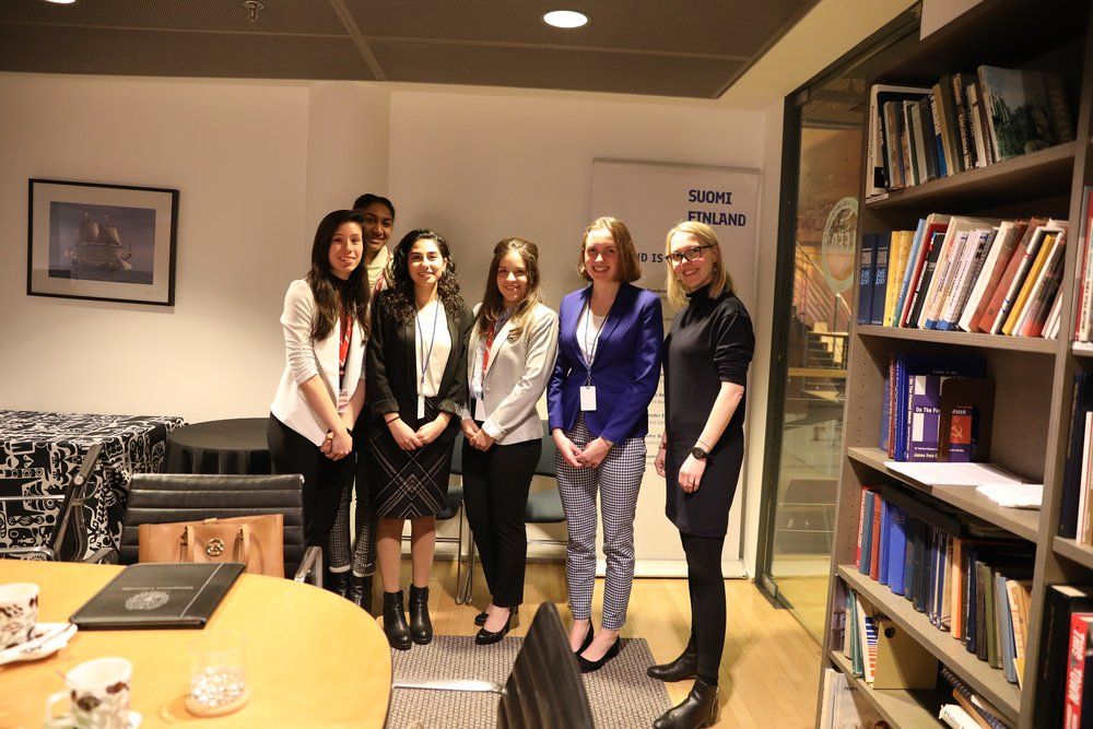 GDS members meet with Political Minister Counsellor Ms. Sirpa Nyberg at the Embassy of Finland in Washington, DC.