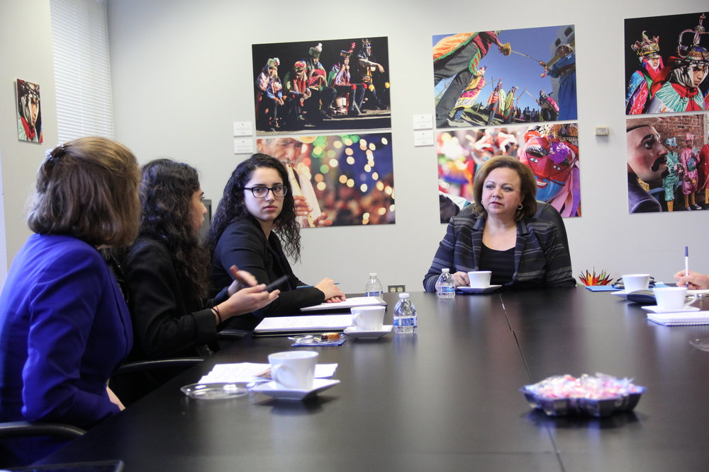 GDS members meet with Ambassador Claudia Ivette Canjura de Centeno at the Embassy of El Salvador in Washington, DC.