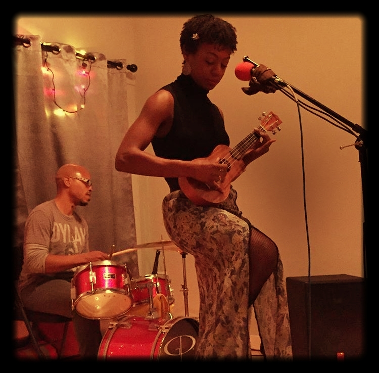 December 2016 First Friday Artist, Ronya Lee, performing at Lighthouse Yoga Center.
