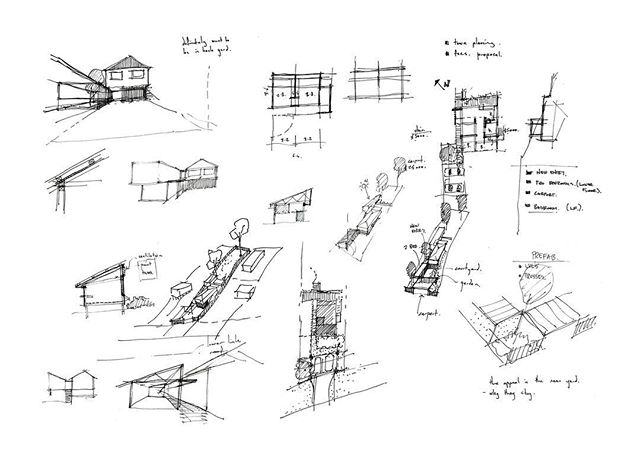 Ideas from the Archive 03. Early stages of the Lota house. Definitely want to be in the backyard!
