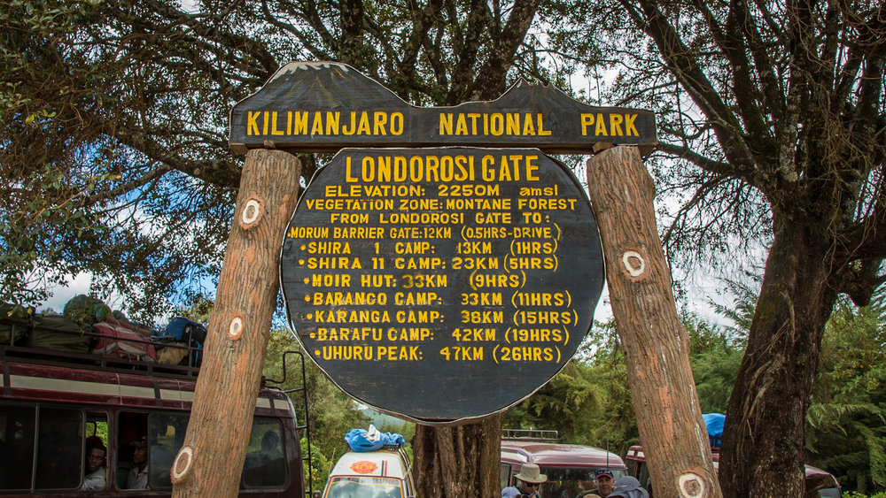 We begin hiking at Londorosi Gate