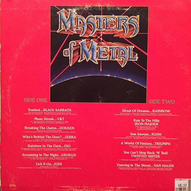 Check out the tracks on this comp from '84 - interesting seeing these groups (and lineups) together #heavymetal