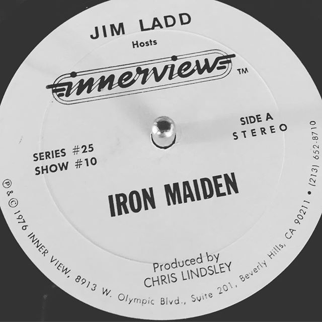 @ironmaiden interview on vinyl - @jeffsteinman182 found this in a bulk garage sale purchase he made and let me have it. Pretty beat up but large parts are still listenable. #heavymetal #classicmetal #ironmaiden #podcast #beforepodcasts #interview #heavymetalinterviews #heavymetalhistory