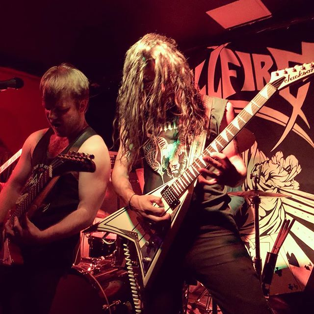 Five killer sets from @hellfiremetal @toke_nc @greatelectricquest @monarch666 @tzimani_official last night at @tiltwoclub - an arresting mix of #heavymetal and #rocknroll