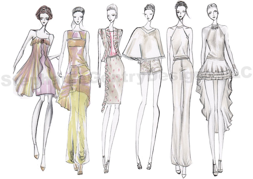Sketches for Spring 2014 collectionDisplayed on the Phoenix Fashion Week Runway as apart of the Emerging Designers competition.
