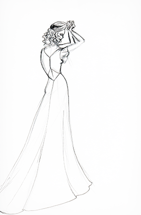 Sample Sketch Marker render. Note Wedding dress. Like the look? Ask about custom orders!
