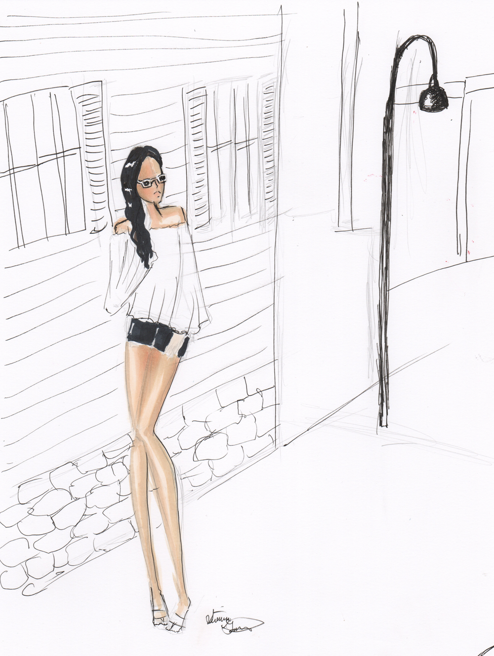 Illustration of Lush to blush blog stylist