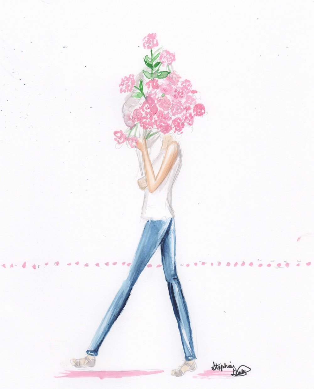 Flower Series Fashion Illustration
