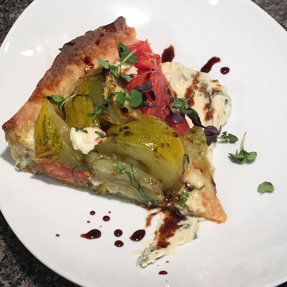 Roasted Tomato Tart - Watch David cook it and get the recipe. WCSH's 207, September 12, 2017