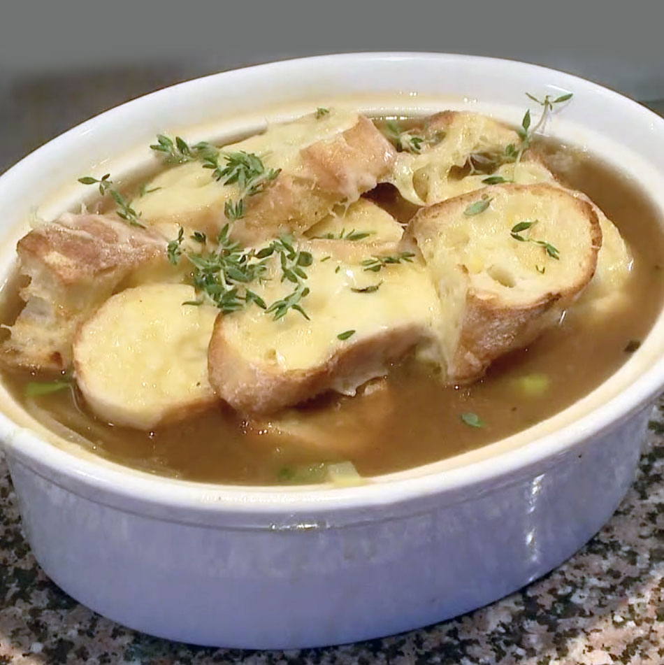 Five Onion (French Onion) Soup - Watch David cook it and get the recipe.WCSH's 207,  November 15, 2016