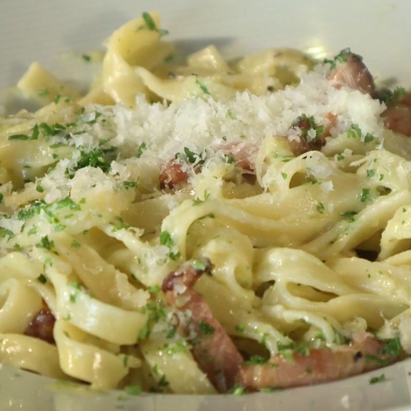 Fettuccine Carbonara - Watch David cook it and get the recipe.WCSH's 207, April 3, 2018